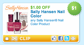 Sally Hansen Nail Color Coupon