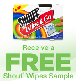 Shout Wipes Sample