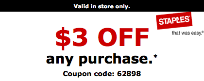 Staples 3 3 Coupon