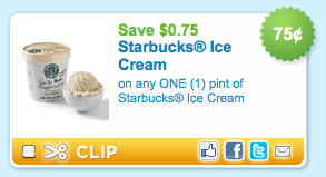 Starbucks Ice Cream Coupon