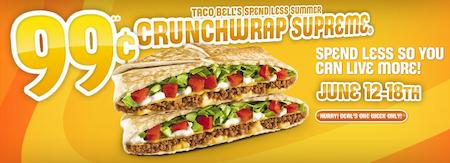 Taco Bell Crunchwrap Supreme 99