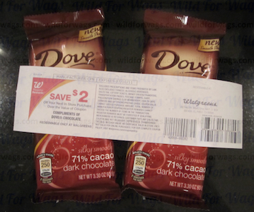 Walgreens Dove Chocolate Register Reward Deal