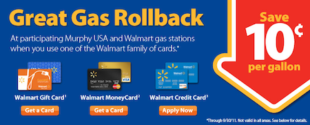 Walmart Great Gas Rollback