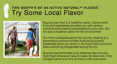 Aveeno Active Naturals Pledge