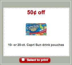 Capri Sun Target Coupon