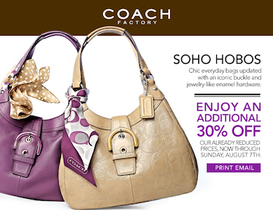 Coach 30 off Coupon