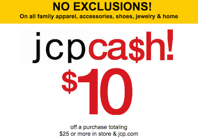 Jcpenney coupons 10 off 25 2019