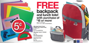 Office Depot FREE Backpack Lunch Tote
