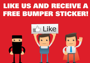 Speedy Signs FREE Bumper Sticker Facebook