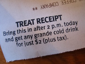 Starbucks Treat Receipt