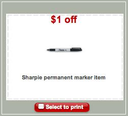 Target Sharpie Coupon