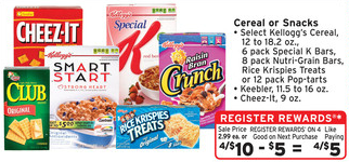 Walgreens Cereal Register Reward