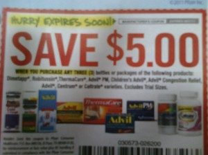 5 off 3 Advil Coupon
