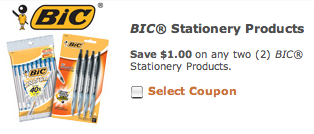 Bic Stationery Products Coupon