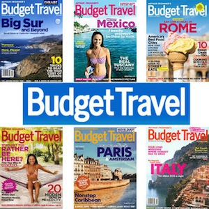 Budget Travel Magazine Subscription $3.69