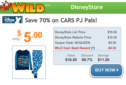 Disney Store Cars PJ Pals