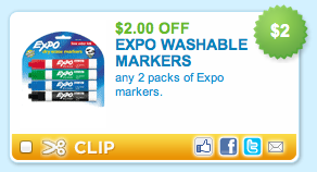 Expo Washable Dry Erase Markers Printable Coupon