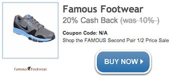 Famous Footwear WILD Deal