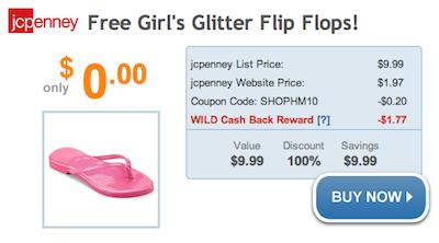 JCPenney FREE Flip Flops