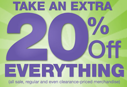 Kohls Extra 20 Sitewide