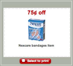 Nexcare Target Coupon