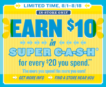 Old Navy Super Cash Promo