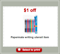 Papermate Target Coupon