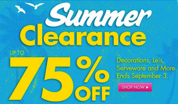 Party City Summer Clearance Sale