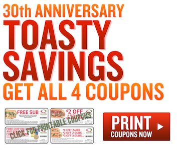 Quiznos Toasty Savings