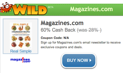 ShopAtHome Magazines com WILD Deal