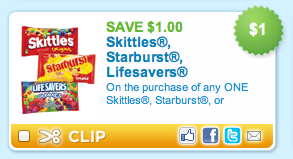 Skittles Starburst Lifesavers Coupon