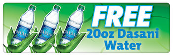 Speedy Rewards FREE Dasani Water