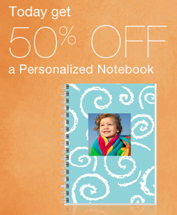 Walgreens 50 off Personalized Notebook