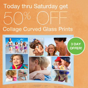 Walgreens Photo Collage Curved Glass Prints Deal