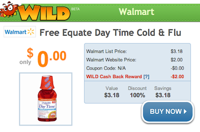 Walmart FREE Equate Cough Syrup