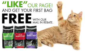 Worlds Best Cat Litter FREE Mail In Rebate