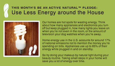 Aveeno Active Natural Pledge September 11