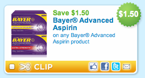 Bayer Advanced Aspirin Printable Coupon