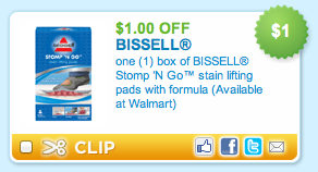 Bissell Stomp n Go Coupon