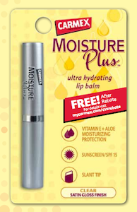 Carmex Moisture Plus FREE After Rebate