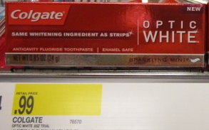 Colgate Optic White Travel Size