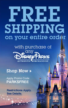 Disney Store FREE Shipping with Parks Merchandise Purchase