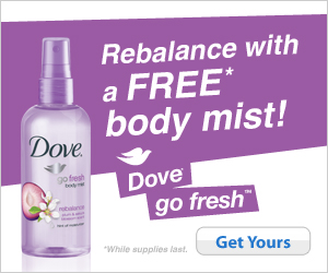 Dove Body Mist Sample