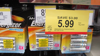 Energizer Lithium Walgreens Deal