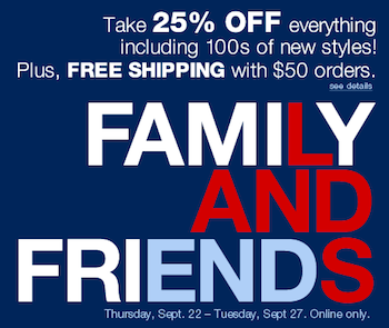 Lands End Friends Family Sale