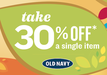 Old Navy 30 off Coupon