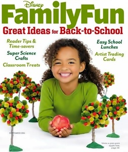 September 2011 Disney Family Fun Magazine