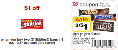 Walgreens FREE Skittles Deal