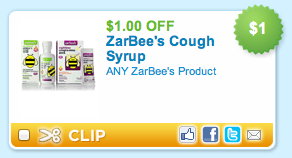 Zarbees Cough Syrup Printable Coupon