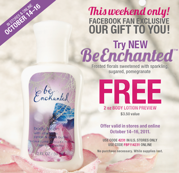 BBW Be Enchanted Body Lotion Coupon